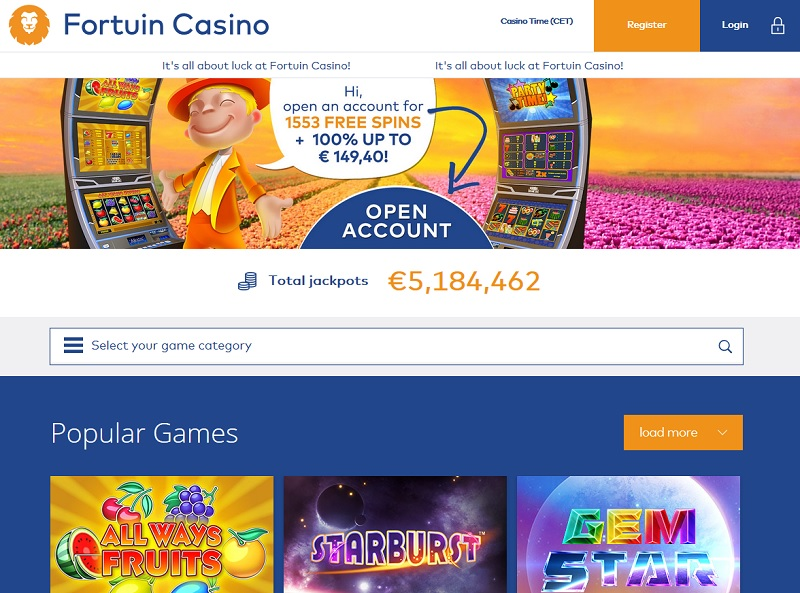 fortuin-casino-website